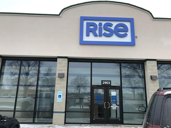 Rise opened on New Year's Day for cannabis customers at 2903 Colorado Ave. in Joliet, near the Louis Joliet Mall. Image via John Ferak/Patch