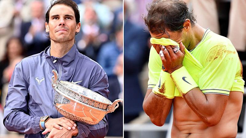Rafael Nadal was close to tears after winning his 12th French Open title.