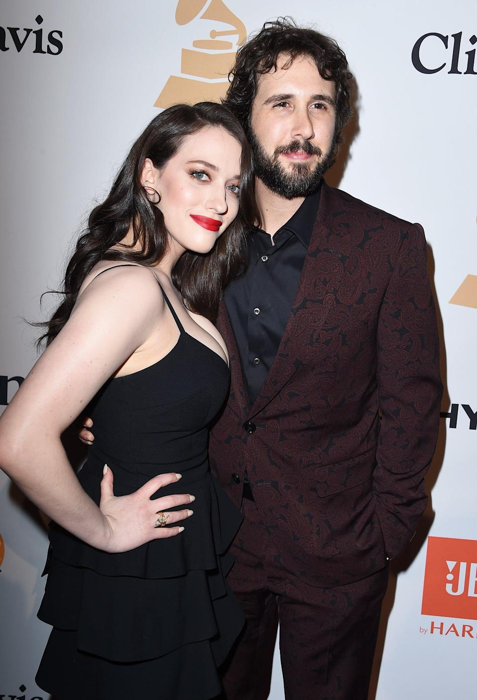 """<p>The couple started dating in October 2014 after Kat was <a href=""""https://people.com/celebrity/josh-groban-and-kat-dennings-break-up-after-2-years-of-dating/"""" class=""""link rapid-noclick-resp"""" rel=""""nofollow noopener"""" target=""""_blank"""" data-ylk=""""slk:introduced to Josh by her 2 Broke Girls costar"""">introduced to Josh by her <strong>2 Broke Girls</strong> costar</a> Beth Behrs. """"<a href=""""https://people.com/tv/kat-dennings-talks-about-josh-groban-on-ellen-video/"""" class=""""link rapid-noclick-resp"""" rel=""""nofollow noopener"""" target=""""_blank"""" data-ylk=""""slk:He's just a genius"""">He's just a genius</a>,"""" the actress gushed to <a class=""""link rapid-noclick-resp"""" href=""""https://www.popsugar.com/Ellen-DeGeneres"""" rel=""""nofollow noopener"""" target=""""_blank"""" data-ylk=""""slk:Ellen DeGeneres"""">Ellen DeGeneres</a> in 2015. Josh expressed similar sentiments during his own appearance on <strong>The Ellen DeGeneres Show</strong> that same year, saying, """"Humor is such a huge thing for me, so, you know, the fact that we could talk about Monty Python and all sorts of weird other things, I was like, 'OK yeah, <a href=""""https://people.com/tv/josh-groban-gushes-about-kat-dennings-then-gasps-from-fright-during-roller-coaster-ellen-interview-video/"""" class=""""link rapid-noclick-resp"""" rel=""""nofollow noopener"""" target=""""_blank"""" data-ylk=""""slk:we're on the same page"""">we're on the same page</a>.'"""" They dated until August 2016 when <a href=""""https://www.eonline.com/news/784111/josh-groban-and-kat-dennings-break-up-after-almost-2-years-of-dating"""" class=""""link rapid-noclick-resp"""" rel=""""nofollow noopener"""" target=""""_blank"""" data-ylk=""""slk:the pair mutually decided to break up"""">the pair mutually decided to break up</a>.</p>"""