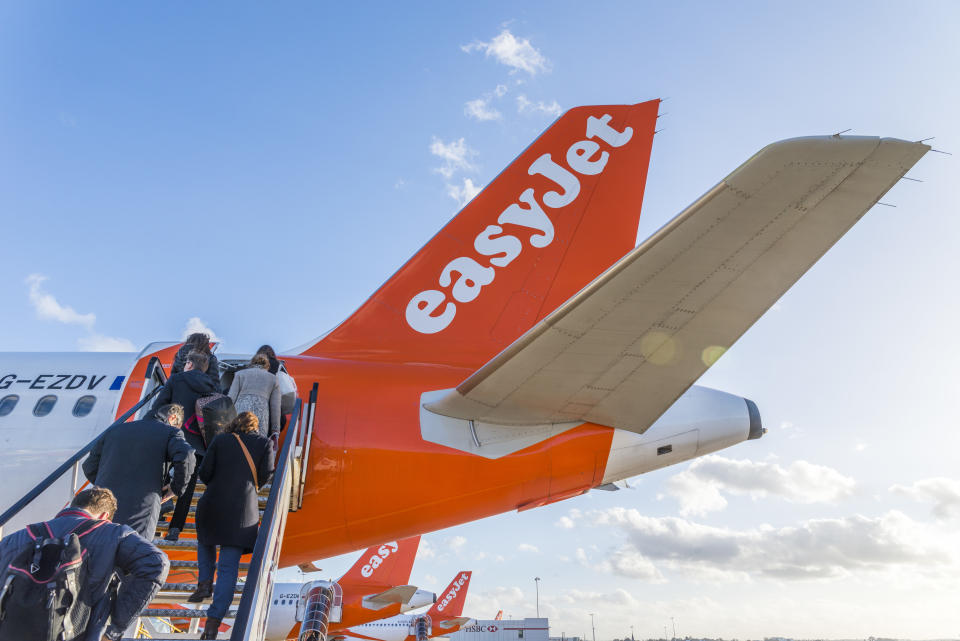 """""""EasyJet is looking forward to taking customers on a long-awaited holiday this summer,"""" it said in a statement. Photo: Getty Images"""