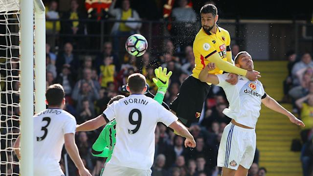 Sunderland's survival hopes suffered another blow at Watford, where Miguel Britos' header was the difference between the sides.