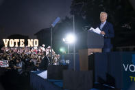 President Joe Biden speaks at a get out the vote rally for Gov. Gavin Newsom, D-Calif., at Long Beach City College, Monday, Sept. 13, 2021, in Long Beach, Calif., as Newsom faces a recall election on Tuesday. (AP Photo/Evan Vucci)