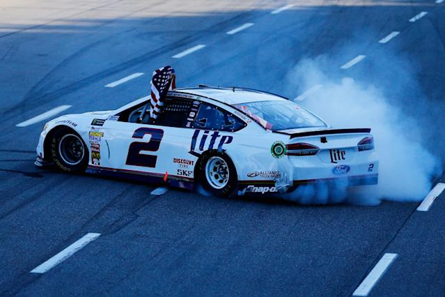 Brad Keselowski's win at Martinsville is his first at the track and second of the 2017 season. (Getty)