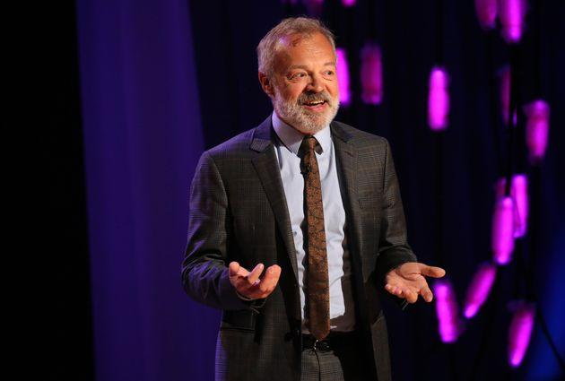 Graham Norton during the filming for the Graham Norton Show