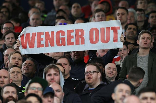 Arsenal fans pay the highest season ticket prices in the Premier League and rising discontent with Arsene Wenger has been clearly shown (AFP Photo/Lindsey PARNABY)