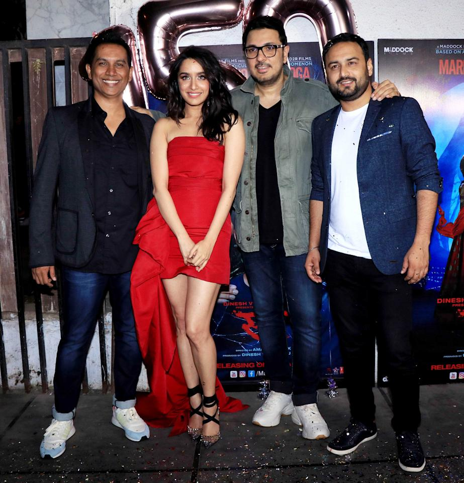 <p>Celebs at the success party of 'Stree' </p>
