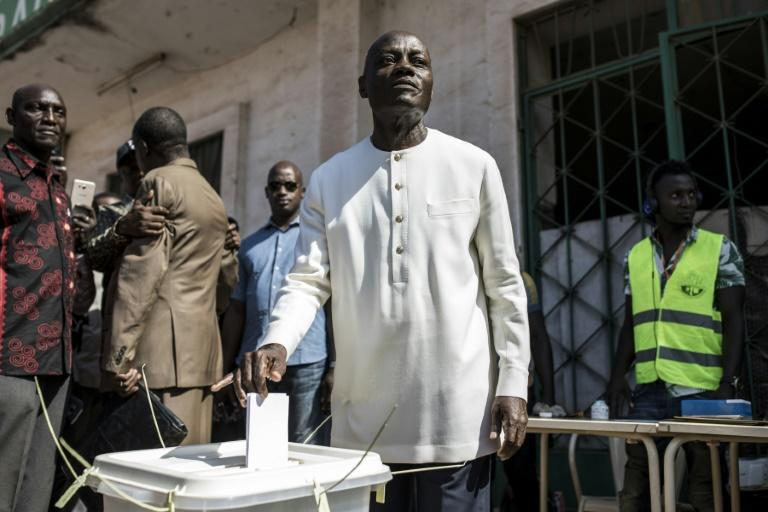 Guinea Bissau's incumbent president Jose Mario Vaz came fourth in the first round (AFP Photo/JOHN WESSELS)
