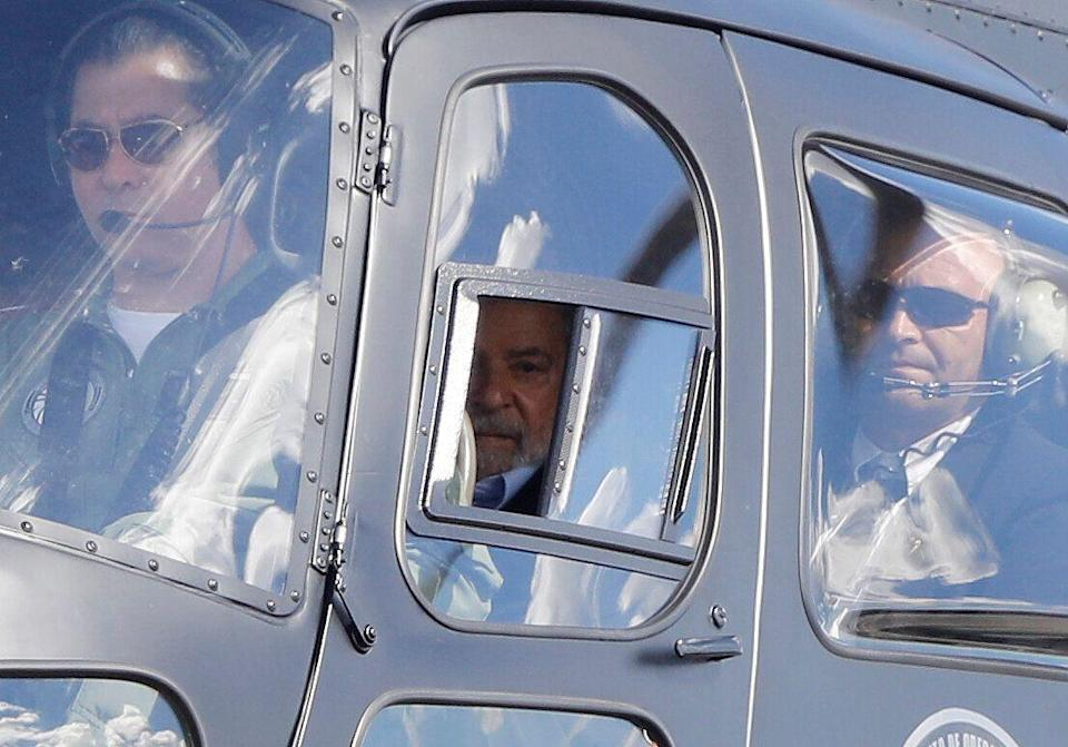 Brazil's former President Luiz Inacio Lula da Silva arrives at the headquarters where he is serving a prison sentence after attending the funeral of his 7-year-old grandson, in Curitiba, Brazil March 2, 2019. REUTERS/Rodolfo Buhrer