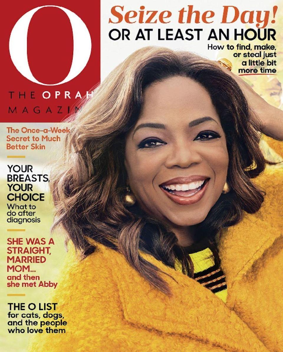 <p>The mogul is not new to the front of magazines. The 63-year-old been on the majority of her own publication's covers, as well as a number of others. (Photo: The Oprah Magazine) </p>