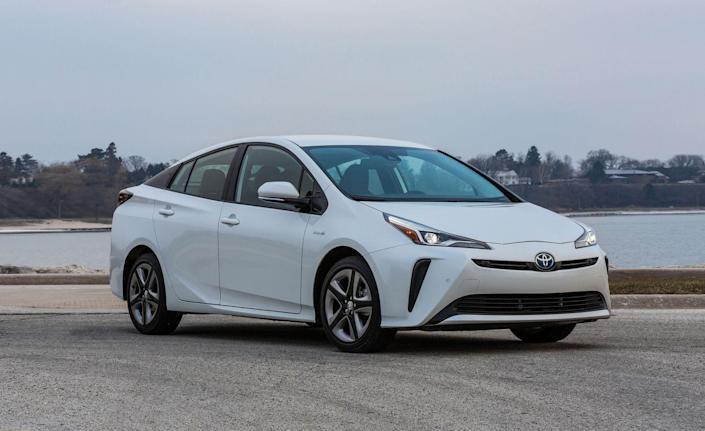 """<p>Just like everyone calls all tissues """"Kleenex"""" or off-road SUVs """"Jeeps,"""" the word """"Prius"""" is nearly a catchall term for hybrids in general. That's because <a href=""""https://www.caranddriver.com/toyota/prius"""" rel=""""nofollow noopener"""" target=""""_blank"""" data-ylk=""""slk:Toyota's Prius"""" class=""""link rapid-noclick-resp"""">Toyota's Prius</a> helped kick off the modern gas-electric hybrid as a vehicle concept in the early 2000s. For 2019, the Prius <a href=""""https://www.caranddriver.com/reviews/a25475797/2019-toyota-prius-awd-e-drive/"""" rel=""""nofollow noopener"""" target=""""_blank"""" data-ylk=""""slk:is available for the first time with all-wheel drive"""" class=""""link rapid-noclick-resp"""">is available for the first time with all-wheel drive</a>; that version nets the 50-mpg EPA combined figure, while the most efficient front-drive model is rated for 56 mpg.<br></p>"""