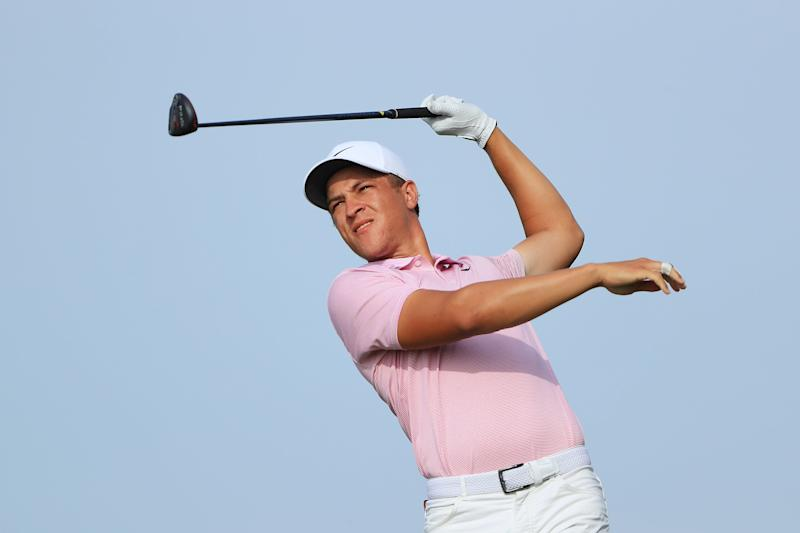 Champ's length off the tee is a strength, but consistency remains an issue.