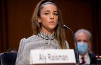 Senate Judiciary hearing on the FBI handling of the Larry Nassar investigation of sexual abuse of Olympic gymnasts, in Washington