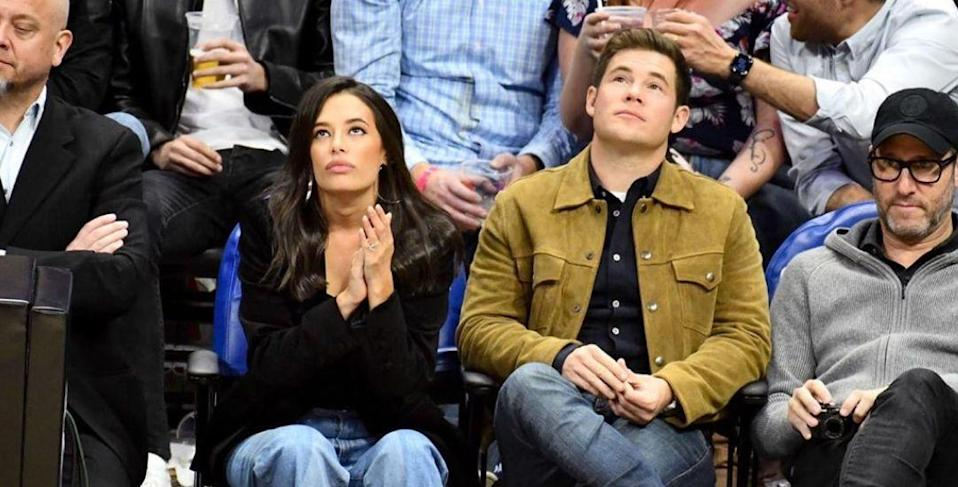 Adam DeVine Dunks On Himself, Chloe Bridges With Camila Cabello, Shawn Mendes Photo