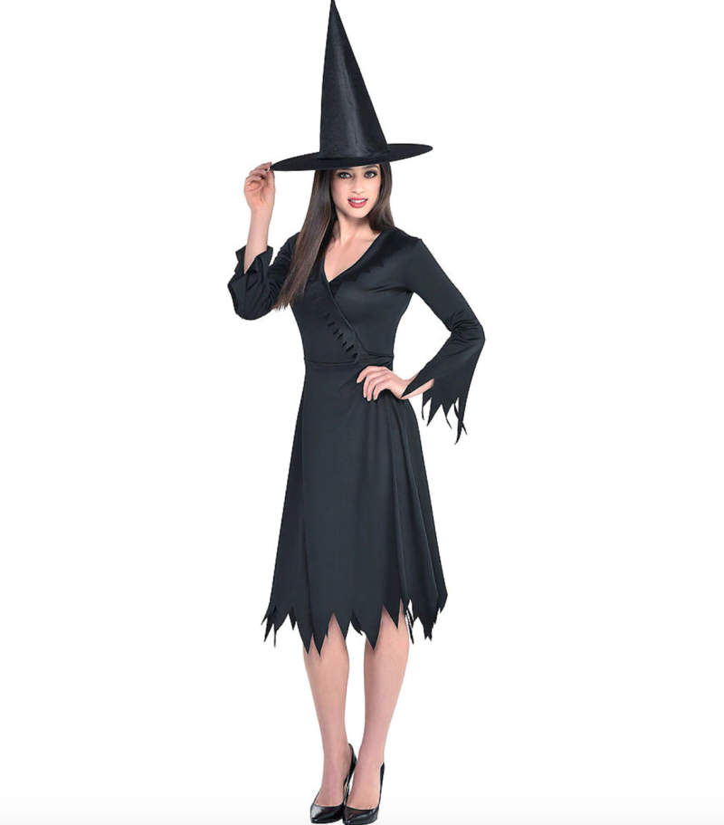 Adult Classic Witch Costume. Image via Party City.