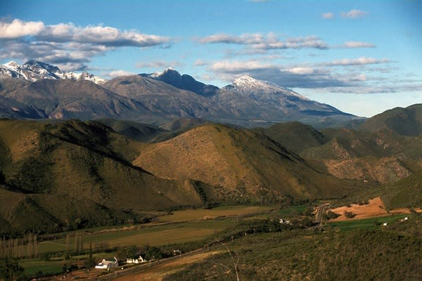 Snow cloaks the Cape Mountains in South Africa