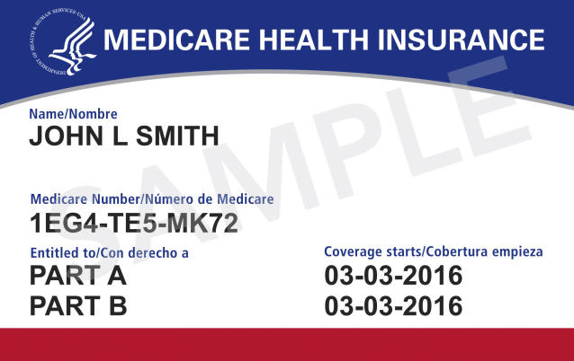 Medicare card. (Centers for Medicare & Medicaid Services via AP)