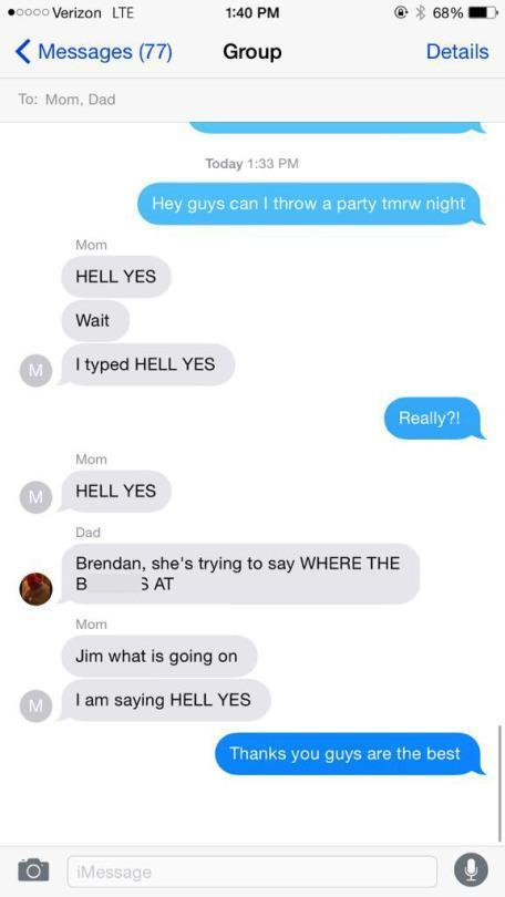 Kid Sparks Hilarious Group Text by Messing With Parents' Phone Settings