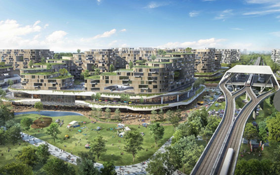 Tengah will be Singapore's first smart and sustainable town, with green features and smart technologies. (Source: HDB)