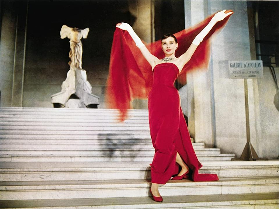 """Audrey Hepburn appears in """"Funny Face."""""""