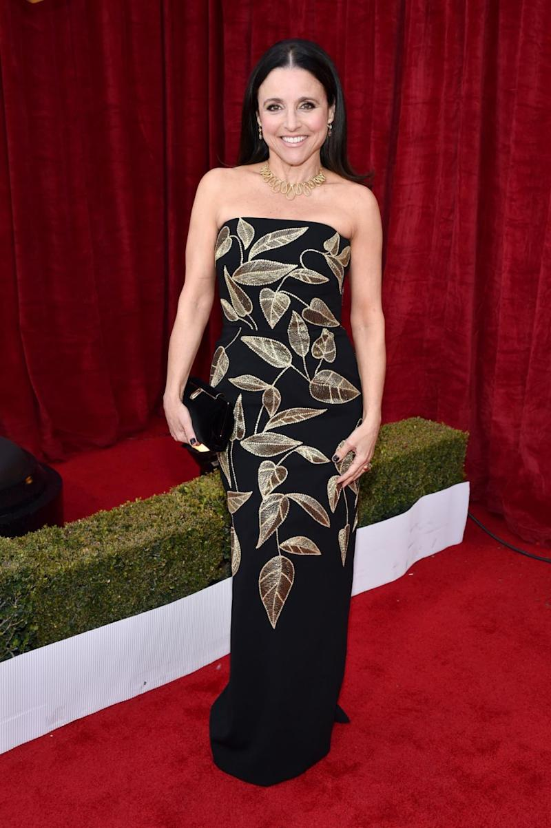 Actor Julia Louis-Dreyfus attends The 23rd Annual Screen Actors Guild Awards at The Shrine Auditorium on January 29, 2017 in Los Angeles, California. Source: Getty