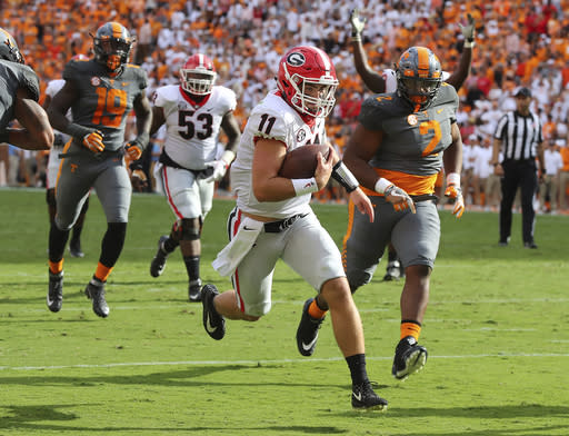Jake Fromm has led Georgia to a perfect start. (AP)