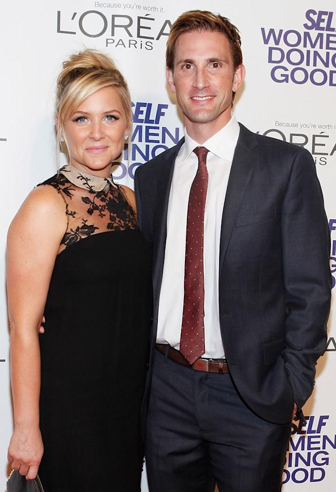 NEW YORK - SEPTEMBER 12: Actress Jessica Capshaw and Co-Founder of The Honest Company Christopher Gavigan attend the SELF Magazine 5th Annual Women Doing Good Awards at IAC Building on September 12, 2012 in New York City.  (Photo by Amy Sussman/Getty Images for SELF Magazine)