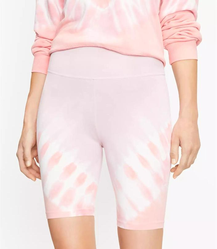 <p>Whether you wear this <span>Lou &amp; Grey Tie Dye Bike Shorts</span> ($15 with code WOW, originally $40) to work out, run errands, or grab coffee with friends, you will look irresistibly cool. Go for a striking monochrome look by adding in the matching sweatshirt.</p>