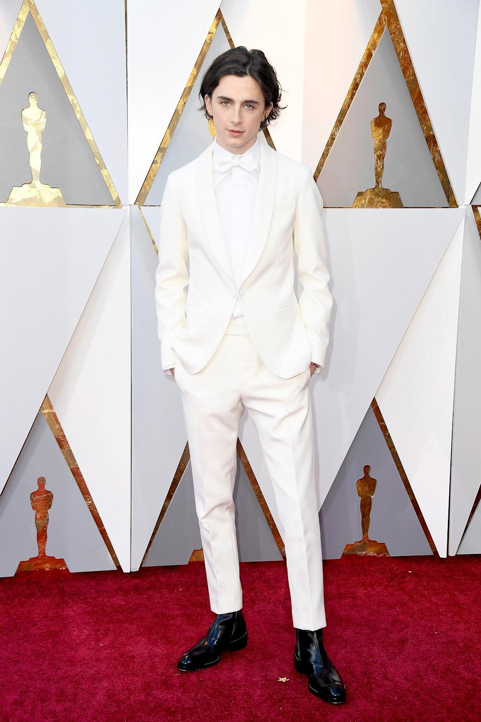 "<h2>Berluti</h2>And the Academy Award for Best Dressed Guest To Bring His Mom goes to...<span class=""copyright"">Photo: Frazer Harrison/Getty Images.</span>"
