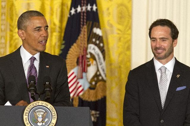 Jimmie Johnson went to the White House on Wednesday