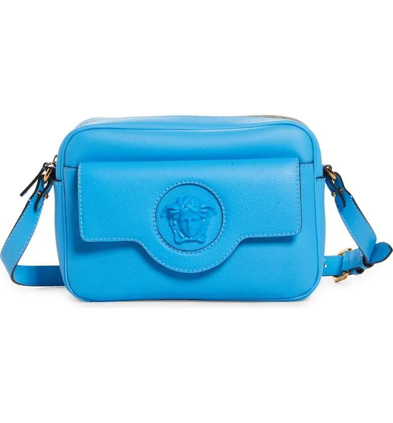 <p>We have major heart eyes for this incredible <span>Versace Medusa Leather Crossbody Camera Bag</span> ($1,275).</p>