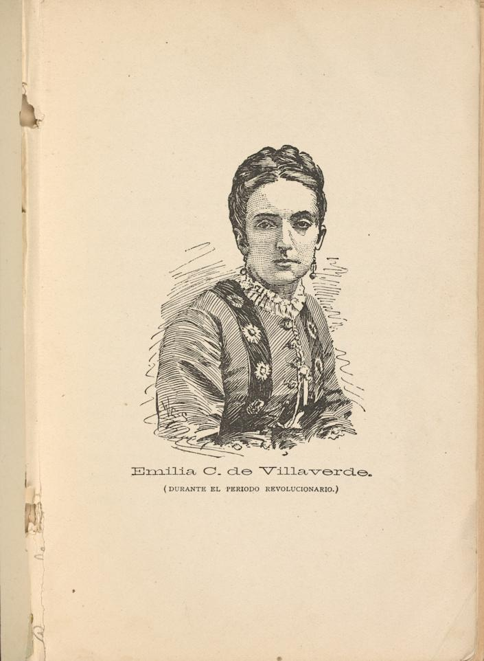 Portrait of Emilia Casanova de Villaverde, 1874. | The New York Public Library