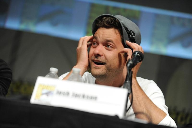 "Joshua Jackson speaks at the ""Fringe"" screening and panel at Comic-Con on Sunday, July 15, 2012, in San Diego. (Photo by Jordan Strauss/Invision/AP)"