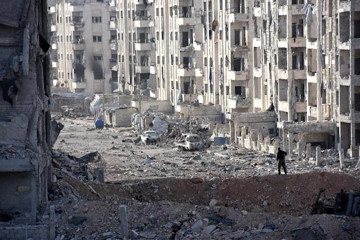 Images of suffering and destruction in Syria are failing to strike a chord in Europe in the same way that the fate of Sarajevo or Iraq did (AFP Photo/Georges Ourfalian )