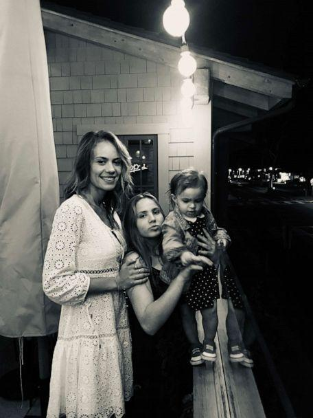 Cameron Douglas' girlfriend, Viviane Thibes, is seen here (left) with Douglas' adopted half-sister Imara (through his mother Diandra), pictured center, and Douglas' daughter, Lua (right). (Courtesy Cameron Douglas)