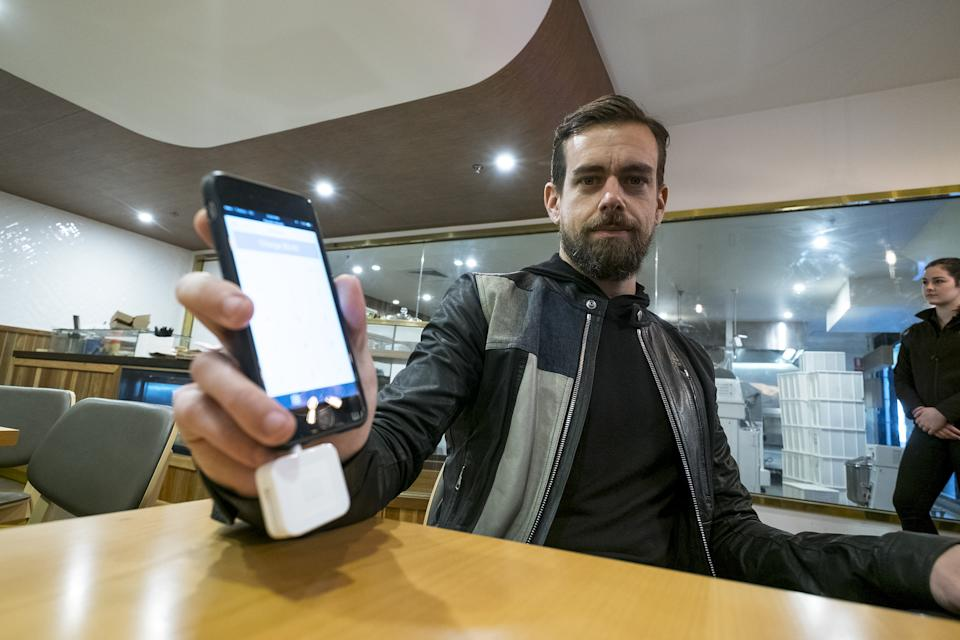 MELBOURNE, AUSTRALIA - APRIL 11: (AUSTRALIA OUT) Jack Dorsey, co-founder and CEO of Square and Twitter, is interviewed at Five & Dime Bagel on April 11, 2016 in Melbourne, Australia. Dorsey is visiting Australia for the first time. (Photo by Louis Ascui/Fairfax Media via Getty Images via Getty Images)