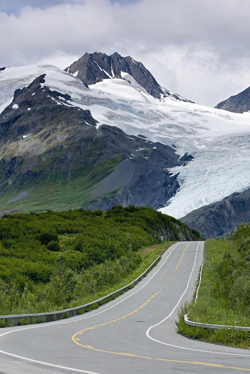 """<p><strong>The Drive:</strong> <a href=""""https://www.tripadvisor.com/Attraction_Review-g28923-d276949-Reviews-Richardson_Highway-Alaska.html"""" rel=""""nofollow noopener"""" target=""""_blank"""" data-ylk=""""slk:Richardson Highway"""" class=""""link rapid-noclick-resp"""">Richardson Highway</a></p><p><strong>The Scene:</strong> You may want to break this seven-hour, 360-mile journey up over the course of a couple days to ensure you can see everything along the way. On route from <a href=""""https://www.tripadvisor.com/Tourism-g60826-Fairbanks_Alaska-Vacations.html"""" rel=""""nofollow noopener"""" target=""""_blank"""" data-ylk=""""slk:Fairbanks"""" class=""""link rapid-noclick-resp"""">Fairbanks</a> to <a href=""""https://www.tripadvisor.com/Tourism-g31156-Valdez_Alaska-Vacations.html"""" rel=""""nofollow noopener"""" target=""""_blank"""" data-ylk=""""slk:Valdez, Alaska"""" class=""""link rapid-noclick-resp"""">Valdez, Alaska</a> you'll see <a href=""""https://www.tripadvisor.com/Attraction_Review-g31156-d103561-Reviews-Keystone_Canyon-Valdez_Alaska.html"""" rel=""""nofollow noopener"""" target=""""_blank"""" data-ylk=""""slk:Keystone Canyon"""" class=""""link rapid-noclick-resp"""">Keystone Canyon</a>, Worthing Glacier, Gulkana Glacier, the <a href=""""https://www.tripadvisor.com/Tourism-g143056-Wrangell_St_Elias_National_Park_and_Preserve_Alaska-Vacations.html"""" rel=""""nofollow noopener"""" target=""""_blank"""" data-ylk=""""slk:Wrangell-St. Elias National Park"""" class=""""link rapid-noclick-resp"""">Wrangell-St. Elias National Park</a>, and more.</p><p><strong>The Pit-Stop:</strong> Be sure to stop at <a href=""""https://www.tripadvisor.com/Tourism-g31079-North_Pole_Alaska-Vacations.html"""" rel=""""nofollow noopener"""" target=""""_blank"""" data-ylk=""""slk:North Pole, Alaska"""" class=""""link rapid-noclick-resp"""">North Pole, Alaska</a> to see the """"Santa Claus House"""" and the Antler Academy.</p>"""