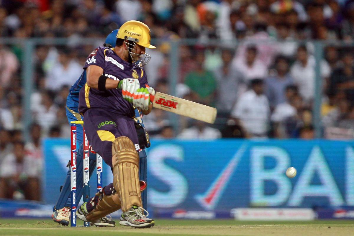 Gautam Gambhir during match 33 of the Pepsi Indian Premier League between The Kolkata Knight Riders and The Mumbai Indians held at Eden Gardens Stadium, Kolkata on the 24th April 2013. Photo by Jacques Rossouw-IPL-SPORTZPICS   ..Use of this image is subject to the terms and conditions as outlined by the BCCI. These terms can be found by following this link:..https://ec.yimg.com/ec?url=http%3a%2f%2fwww.sportzpics.co.za%2fimage%2fI0000SoRagM2cIEc&t=1506398580&sig=L21SdmKXSJbnbCHgK6dV5g--~D