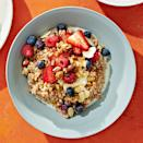 <p>Originally from Mesopotamia, farro is a type of wheat with a wonderful nutty flavor and toothsome texture. It's packed with plant-based protein, niacin, magnesium and zinc. Ancient wheat strains have also been found to have higher levels of antioxidants and carotenoids, important for eye health.</p>