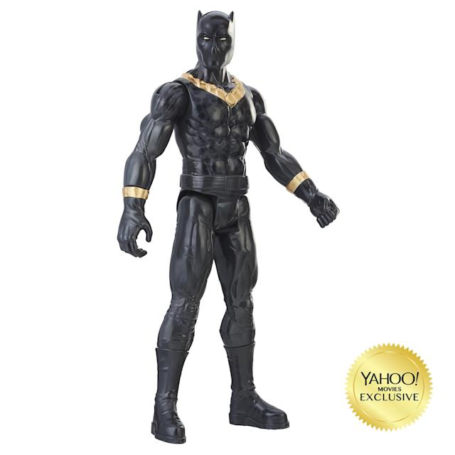 <p>The larger-scale figures reveals more details of Killmonger's catlike costume. $9.99 (Photo: Hasbro) </p>