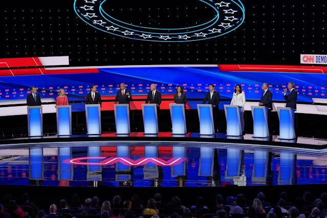The USWNT equal pay fight never came up during July's presidential debate. (Photo by Scott Olson/Getty Images)