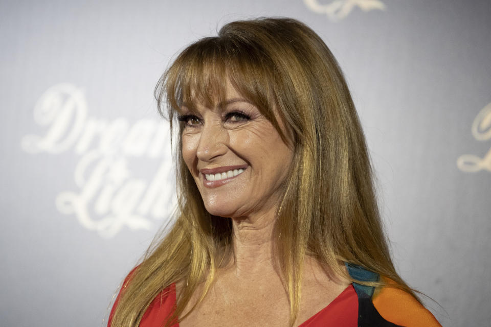 Actress Jane Seymour attends ''Glow & Darkness'' photocall at the Palace Hotel on October 26, 2020 in Madrid, Spain. (Photo by Oscar Gonzalez/NurPhoto via Getty Images)