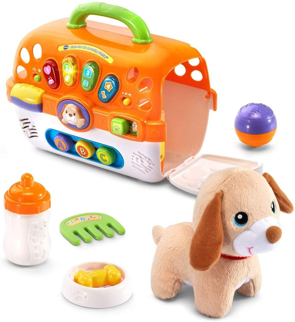 <p>Show little ones how to look after pets with this <span>VTech Care for Me Learning Carrier Toy</span> ($25).</p>