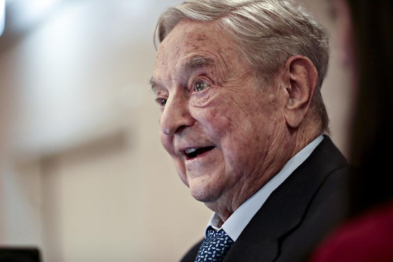 George Soros donated to Best for Britain via his one of his foundations, The Open Society Foundations (Bloomberg via Getty Images)