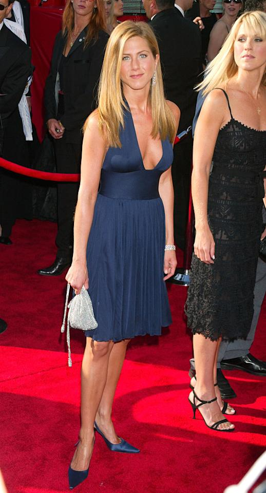 Jennifer Aniston at the 55th Annual Primetime Emmy Awards in Los Angeles on September 21, 2003.