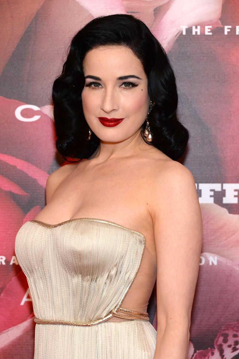 """Burlesque star Dita Von Teese was married to shock rocker Marilyn Manson for just over a year before she <a href=""""http://www.people.com/people/article/0,,20005731,00.html"""" target=""""_blank"""">filed for divorce in January 2007</a>. Von Teese moved out on <a href=""""http://www.thehollywoodgossip.com/2007/04/dita-von-teese-on-love-marilyn-manson-nudity-etc/"""" target=""""_blank"""">Christmas Eve amid allegations</a> that Manson was having an affair with Evan Rachel Wood, then 19 years old. """"I left with nothing. I knew that there was an inappropriate relationship going on in [my home], and I didn't want any part of it around to remind me,"""" <a href=""""http://www.thehollywoodgossip.com/2007/04/dita-von-teese-on-love-marilyn-manson-nudity-etc/"""" target=""""_blank"""">she said</a>. """"I didn't want that sofa. I didn't want that bed."""""""