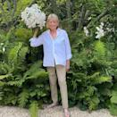 """<p>It's no secret that the lifestyle maven has a knack for gardening — something she's been showing off in her new HGTV show, <em><a href=""""https://people.com/home/martha-knows-best-martha-stewarts-new-hgtv-series-premieres-july-31-features-celeb-friends/"""" rel=""""nofollow noopener"""" target=""""_blank"""" data-ylk=""""slk:Martha Knows Best"""" class=""""link rapid-noclick-resp"""">Martha Knows Best</a></em>, which takes place at her farm in Bedford, New York.</p> <p>In <a href=""""https://www.instagram.com/p/CDIF1nsJAh4/"""" rel=""""nofollow noopener"""" target=""""_blank"""" data-ylk=""""slk:this Instagram post"""" class=""""link rapid-noclick-resp"""">this Instagram post</a>, she shows off """"one lily that has grown in a crazy way"""" in her garden, which has """"forty-five separate flowers"""" — on one stem! </p>"""
