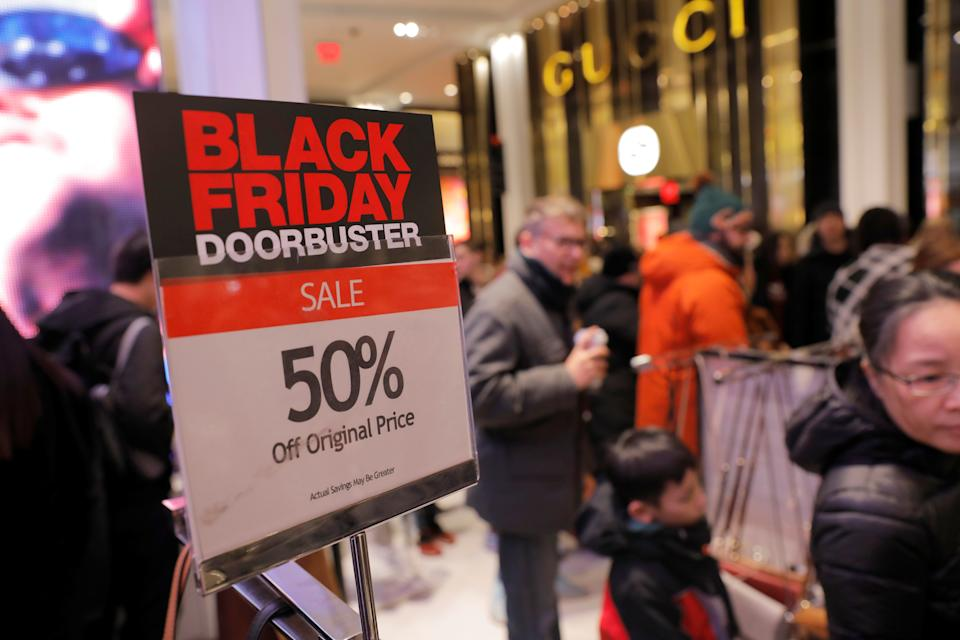 People shop at Macy's Herald Square during early opening for the Black Friday sales in Manhattan, New York City, November 28, 2019. (REUTERS/Andrew Kelly)
