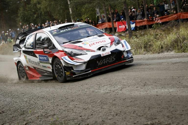 Ott Tanak, competing here in Finland, built up a comfortable lead at the Rally of Germany on Saturday