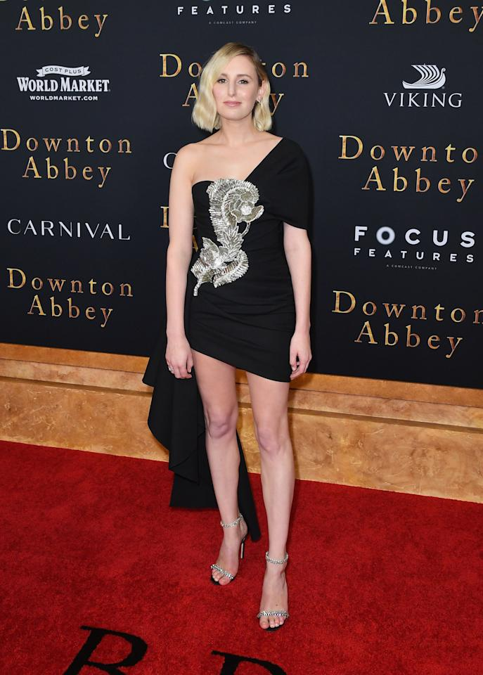Laura Carmichael wore Oscar de la Renta to the Downton Abbey New York premiere. [Photo: Getty Images]