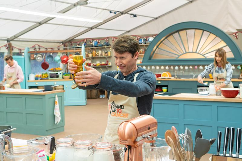 James Blunt was close competition on 'The Great Stand Up To Cancer Bake Off'. (Mark Bourdillon/Channel 4)